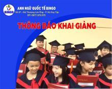 Thông báo khai giảng các lớp tiếng Anh